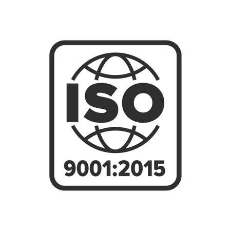 Illustration pour ISO 9001 certified symbol - Vector - image libre de droit