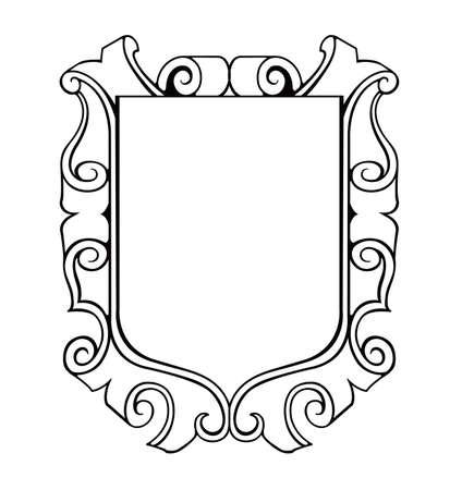 Illustration pour shield emblem ilustration - image libre de droit