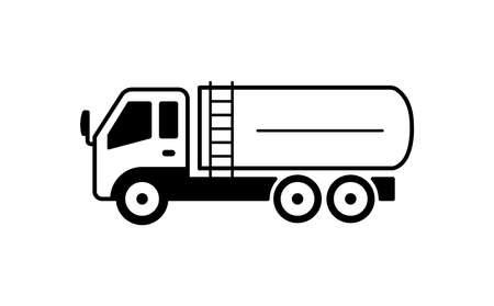 Illustration pour A tanker truck illustration - image libre de droit