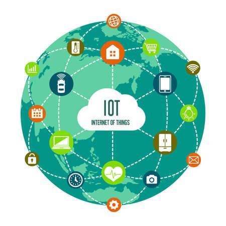 Illustration pour IoT (internet of things) image illustration - image libre de droit
