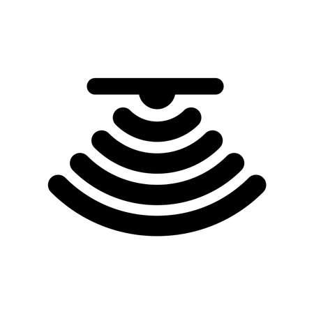 Illustration pour the sensor icon (the Ceiling) - image libre de droit