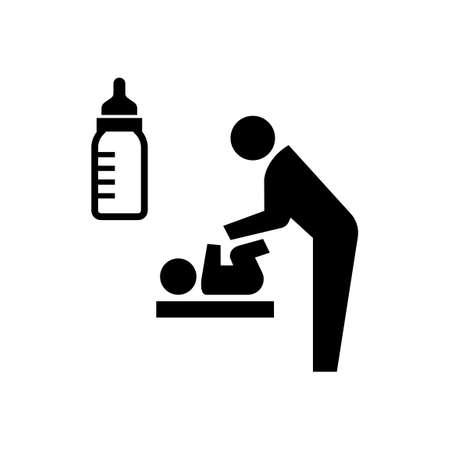 Ilustración de nursery room, nursing room icon / public information symbol - Imagen libre de derechos