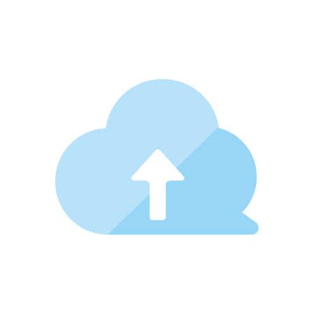 Illustration pour Upload icon (cloud) - image libre de droit