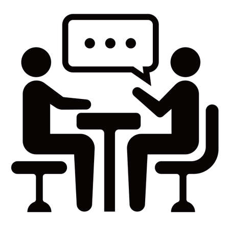 Illustration pour meeting, discussion, conversation icon - image libre de droit