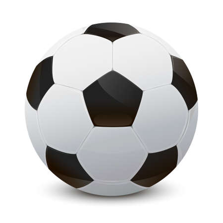 Ilustración de Illustration of a realistic soccer ball - Imagen libre de derechos