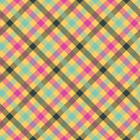 Illustration pour Tartan orange color seamless vector pattern. T-shirt fabric texture. Flannel textile background - image libre de droit