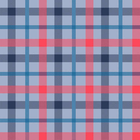 Illustration pour Tattersall material color seamless vector pattern. Flannel fabric texture. Checkered background - image libre de droit