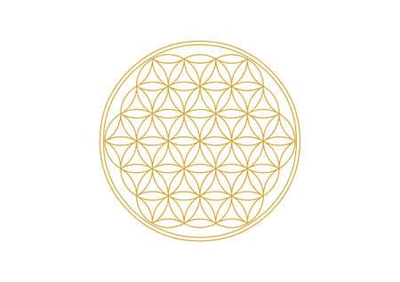 Illustration pour Flower of Life - Gold - image libre de droit