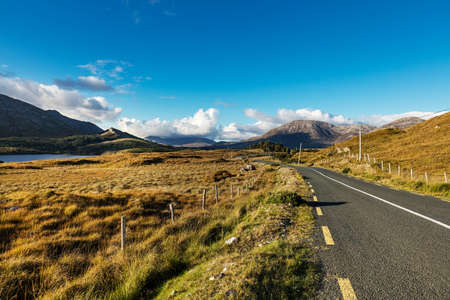 Photo for Road going across beautiful Connemara, County Galway, Ireland - Royalty Free Image