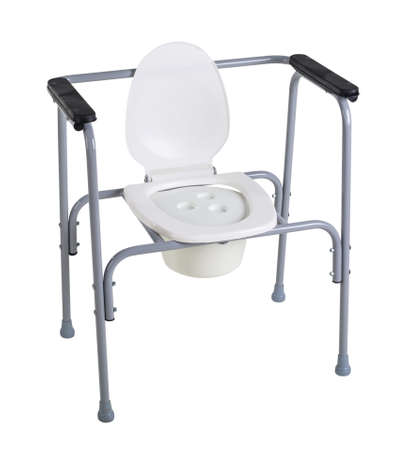 Photo pour Toilet chair for rehabilitation in postoperative period, the elderly, as well as patients who have disorders of the musculoskeletal system isolated on white - image libre de droit