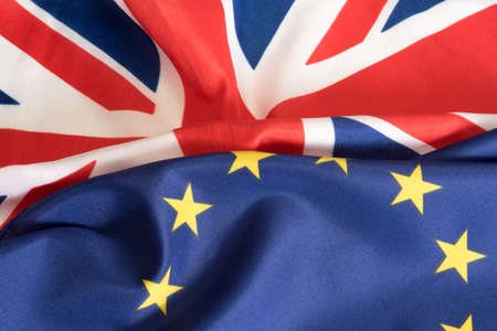 Photo for Flags of the EU and Great Britain - Royalty Free Image