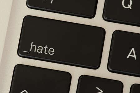 Photo pour A computer and key for hate - image libre de droit