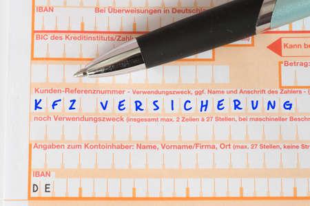 Photo pour The transfer of the car insurance - image libre de droit