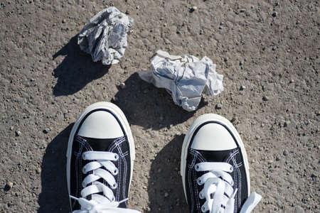 Foto de Garbage on the street - Imagen libre de derechos