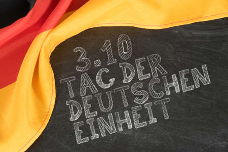 Foto de Flag of Germany and Day of German Unity - Imagen libre de derechos