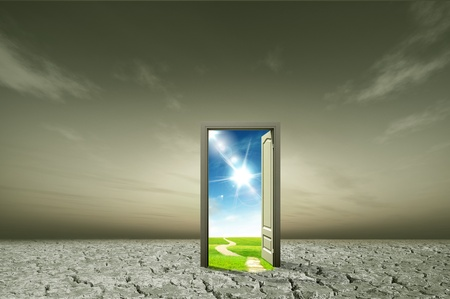 Photo for Door open to the new world, for environmental concept and idea - Royalty Free Image