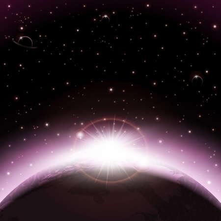 Illustration pour Space background - image libre de droit