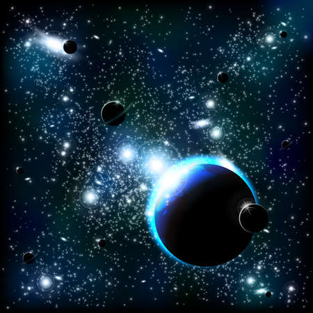 Illustration for Space background - Royalty Free Image