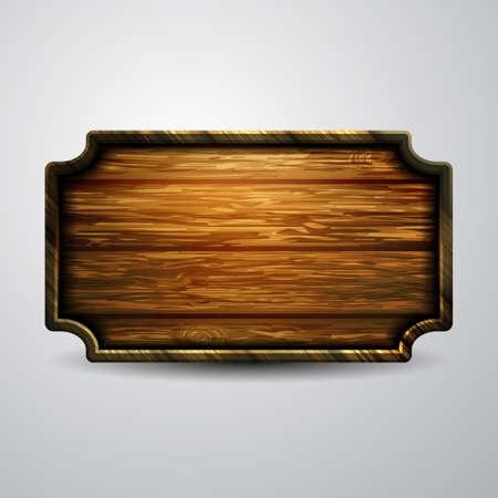 Illustration pour Vector realistic illustration of wooden signboard - image libre de droit