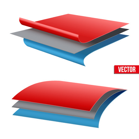 Ilustración de Technical illustration of a three-layer fabric. Demonstration of the structure of the material. Vector Illustration isolated on white background - Imagen libre de derechos