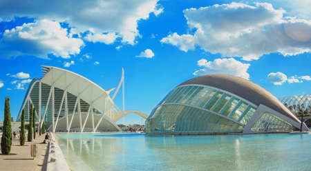 Photo pour City of Arts and Sciences in Valencia in sunny day - image libre de droit