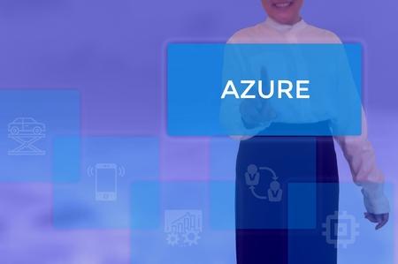 Foto de select AZURE - technology and business concept - Imagen libre de derechos