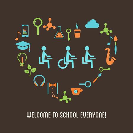 Foto de Special Needs Students Inclusion Education Concept - Imagen libre de derechos
