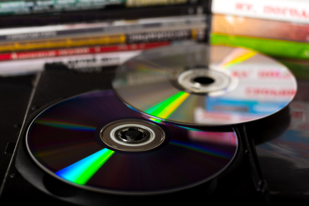 Photo for Compact discs and disc boxes - Royalty Free Image