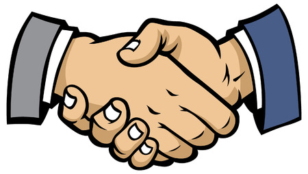 Illustration for shaking hand - Royalty Free Image