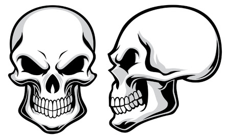 Illustration pour set of skull - image libre de droit