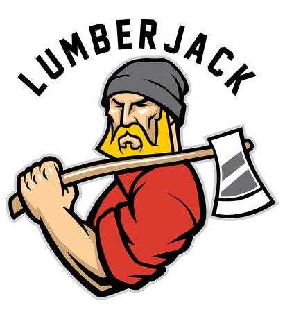 Illustration pour lumberjack mascot - image libre de droit