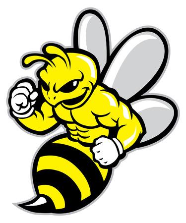 Illustration pour mascot of hornet - image libre de droit
