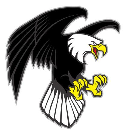 Ilustración de bald eagle mascot - Imagen libre de derechos