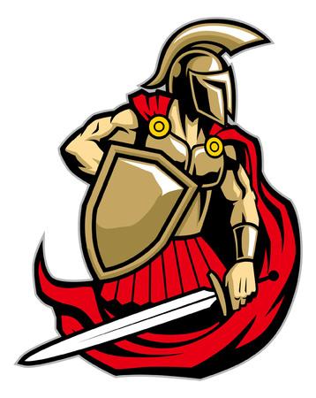 Ilustración de spartan army mascot illustration - Imagen libre de derechos