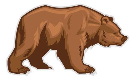 Illustrazione per brown bear - Immagini Royalty Free