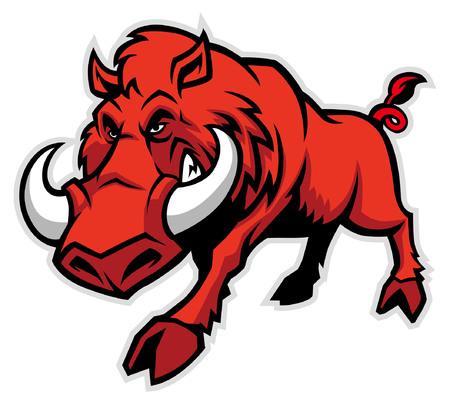 Ilustración de mascot of wild hog - Imagen libre de derechos