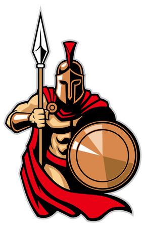 Ilustración de spartan mascot - Imagen libre de derechos