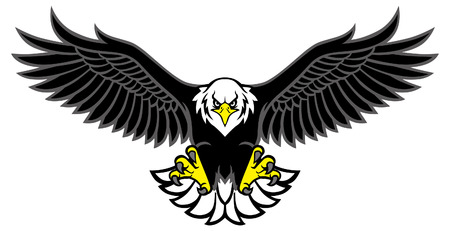 Illustration for eagle mascot spreading the wings - Royalty Free Image