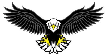 Ilustración de eagle mascot spreading the wings - Imagen libre de derechos