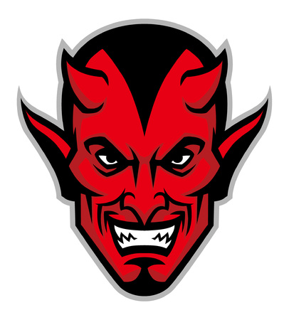 Illustrazione per devil head mascot - Immagini Royalty Free