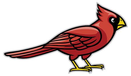 Illustration pour cardinal bird mascot - image libre de droit