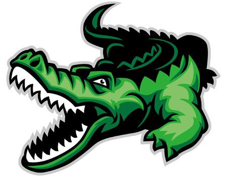 Illustrazione per mascot of crocodile - Immagini Royalty Free