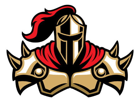 Ilustración de knight mascot - Imagen libre de derechos