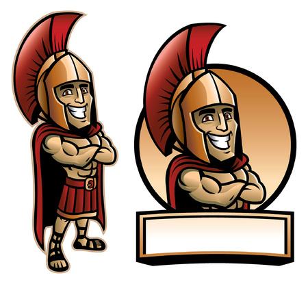Ilustración de spartan army mascot set - Imagen libre de derechos