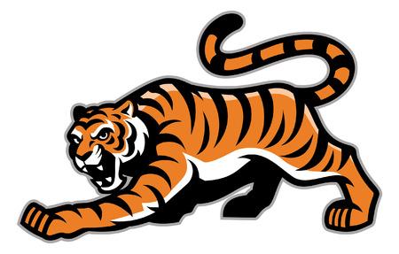 Illustration pour crouching tiger mascot - image libre de droit