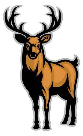 Ilustración de big stag deer mascot - Imagen libre de derechos