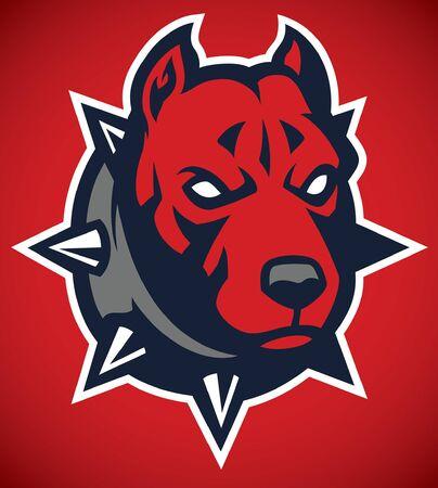 Ilustración de mascot head of pitbull dog - Imagen libre de derechos