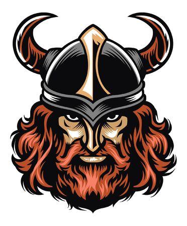 Ilustración de tough viking warrior head - Imagen libre de derechos