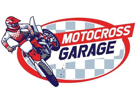 Ilustración de sign design of motorcycle garage - Imagen libre de derechos