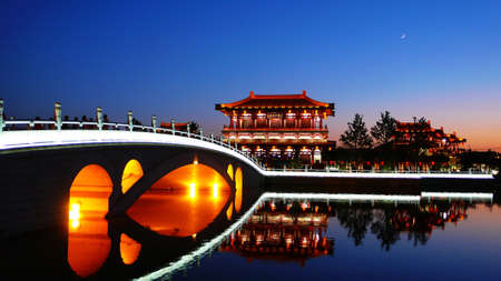 Photo for Landscape of historical buildings in Xian China - Royalty Free Image